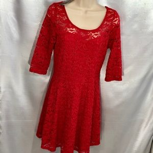 MATERIAL GIRL, LIPSTICK RED, COCKTAIL DRESS, L